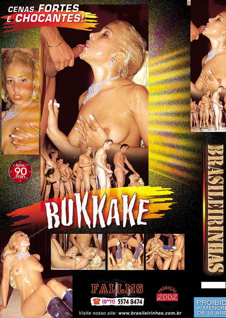 Capa tras do filme Bukkake Izza Saint