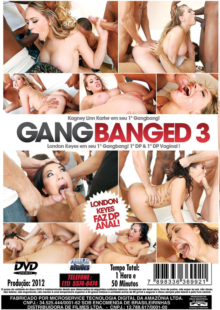 Capa tras do filme Gang Banged 3