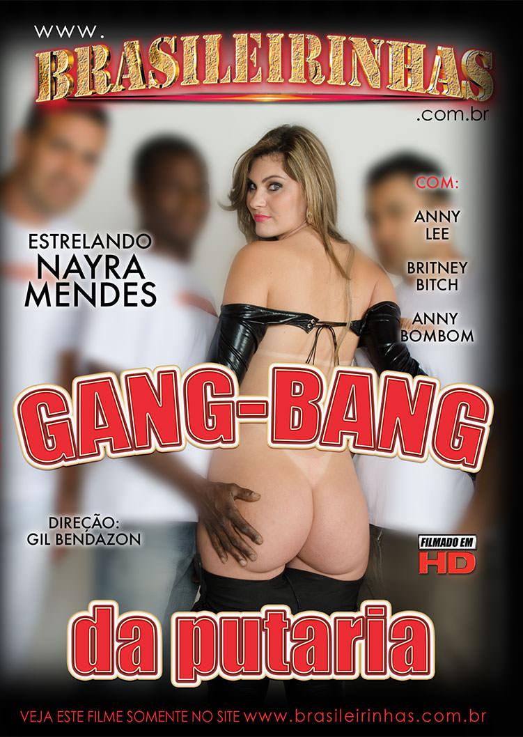 Capa frente do filme GangBang da Putaria