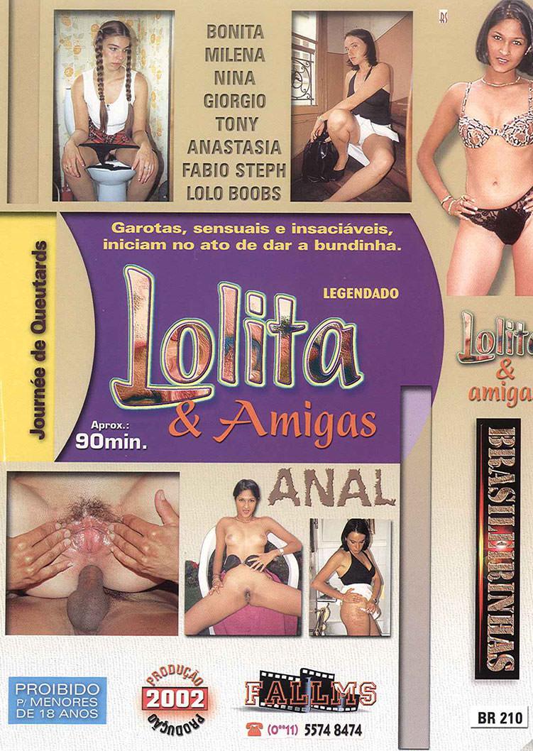 Capa tras do filme Lolita e Amigas