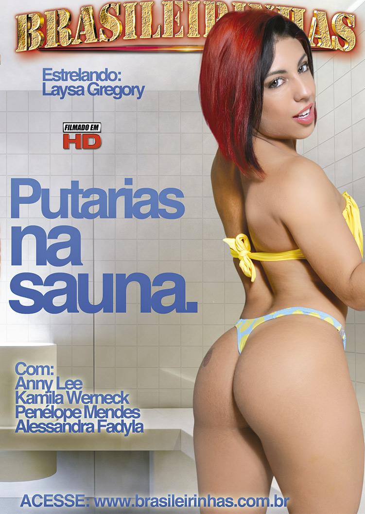 Capa frente do filme Putarias na Sauna