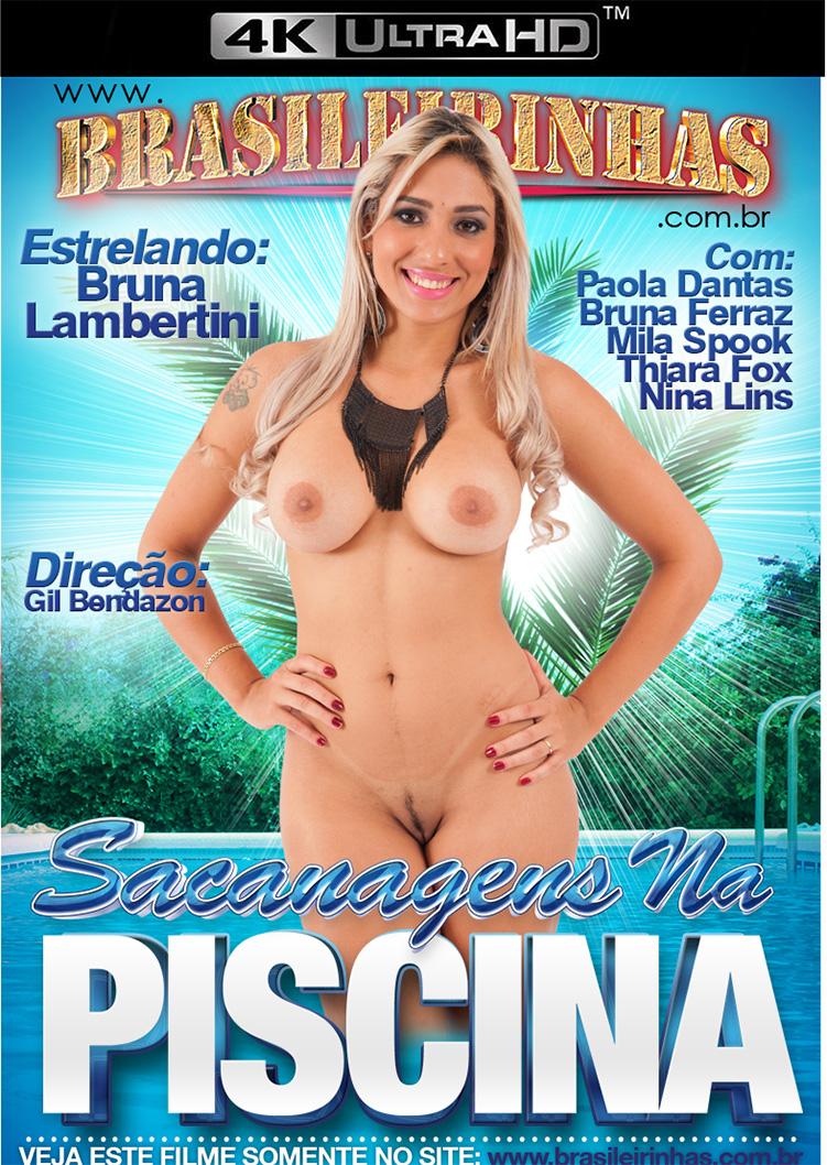 Capa frente do filme Sacanagens na Piscina 4k