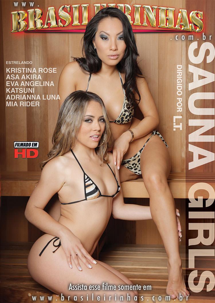 Capa frente do filme Sauna Girls