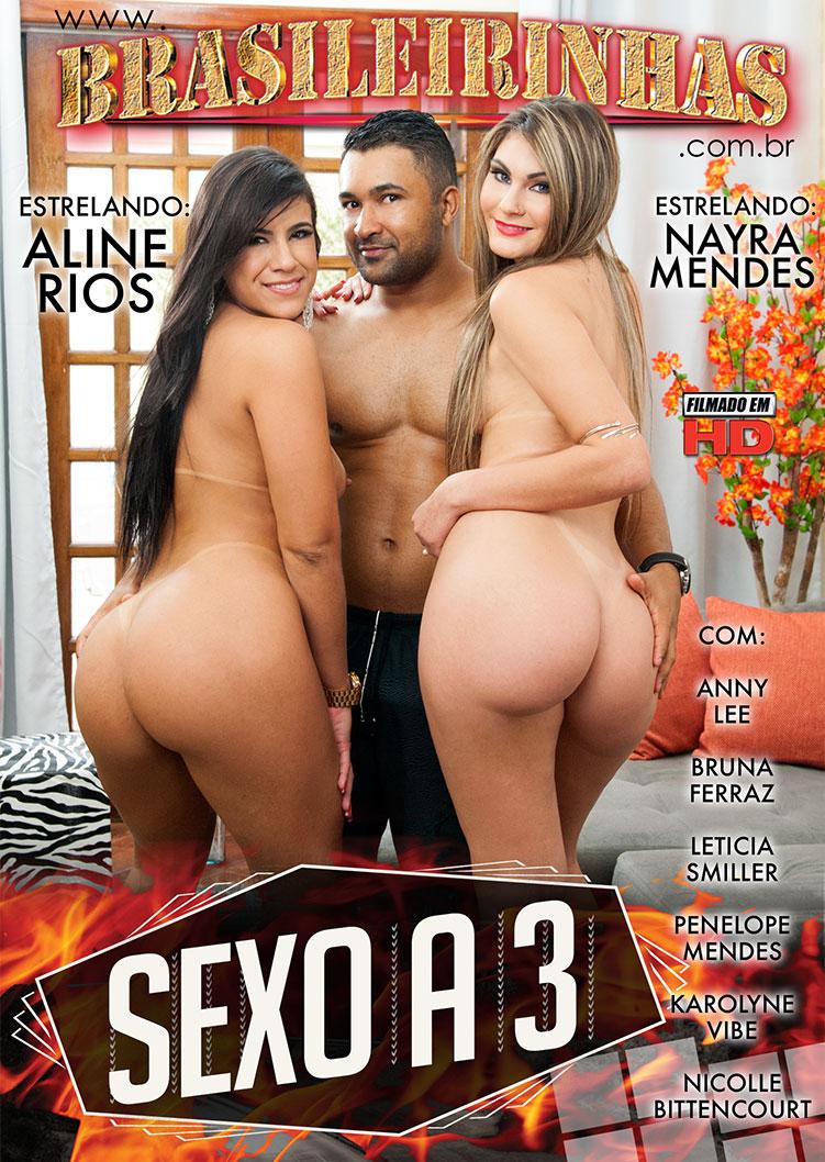 Capa Hard do filme Sexo a Três