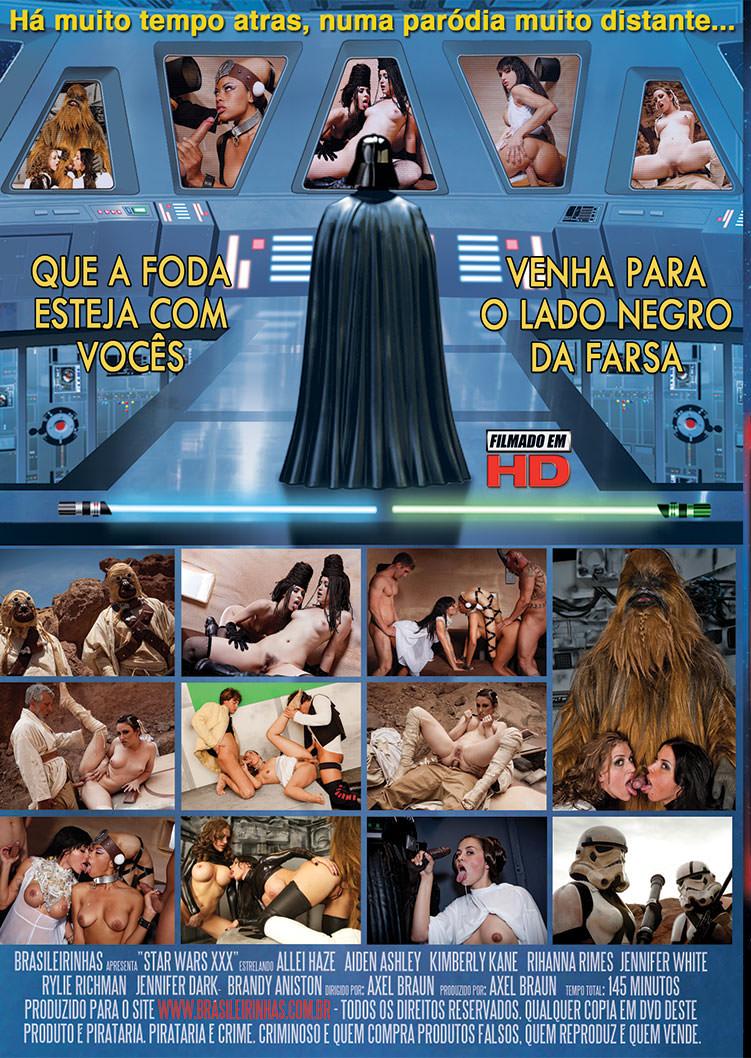 Capa tras do filme Star Wars XXX