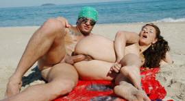 Crown Marcia Ferro is four and a grown man fucks the hot beach