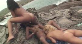Feast of sluts on the beach