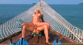 Nikki Rio and Roge Ferro fuck in the middle of a boat!