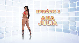 The mulatta hot Ana Julia shook the structures of the House of Brasileirinhas.