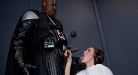 Darth Vader captured Princess Leia with the help of his sexy stormtroppers!