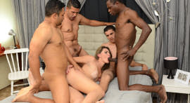 Nayra Mendes sees four very gifted in Gang Bang!