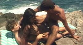 Morena fiery sex on the beach stone