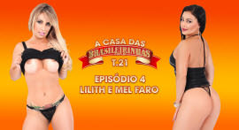 Lilith Scarlett and Mel Faro in lesbo scenes at Casa das Brasileirinhas