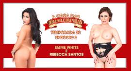 Emme White e Rebecca Sanotos fizeram muitas putarias juntas