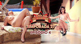 Cristine Castelary e Emanuela Martins ficaram peladas na Casa