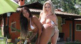 Rafaella Denardin and Bibi Griffo in delicious lesbian sex