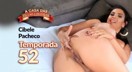 Porn actress Cibele Pacheco being rolled up on the house's T52