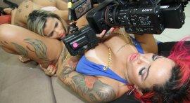 Lesbian sex with sluts Izabela Pimenta and Lolla Martinelli