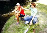 Comendo o peixe-espada!