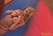 A boneca está na sessão...